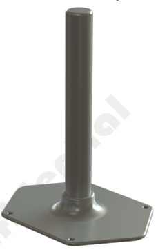 DP500590G-5SFFB 5000~5900 MHz C Band Omni-Directional Antenna with Flange Base
